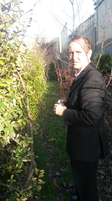 Alex Smith shows a Thirfty City reporter through their garden.